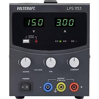 VOLTCRAFT LPS1153 Bench PSU (adjustable voltage) 0 - 15 Vdc 0 - 3 A 45 W No. of outputs 1 x
