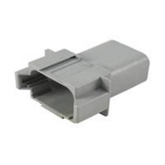 TE Connectivity DT04-08PA Bullet connector Plug, straight Series (connectors): DT Total number of pins: 8 1 pc(s)