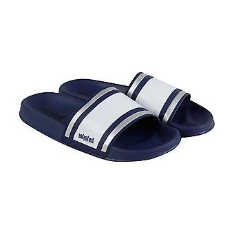 Kenneth Cole Unlisted Form Sandal Mens Blue Slide Slip On Sandals Shoes