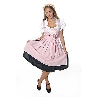 Dirndl Oktoberfest luxury pieces ladies costume white, pink with skirt Oktoberfest