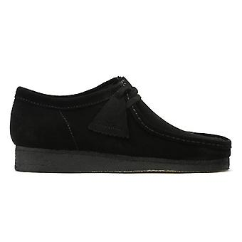 Clarks Originals Mens zwart Wallabee Suede schoenen