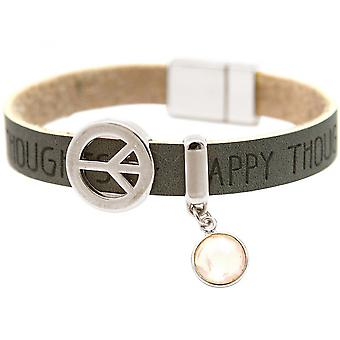 Women - bracelet - harmony - peace - WISHES - Rose Quartz - anthracite - grey - magnetic closure