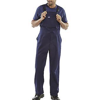 Click Cotton Drill Bib & Brace With Multi Pockets - Cdbbn