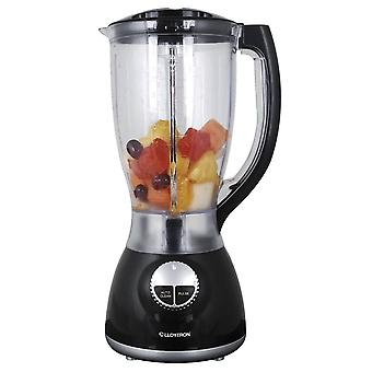 Lloytron E824BK 500W 2L Jug Blender With Grinder Attachment - Black