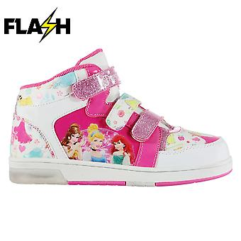 Character Infants Kids Light Up Hi Tops Padded Insole Ankle Collar Shoe Footwear