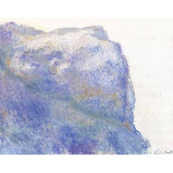 على المنحدر في Le Petit أيلي، كلود مونيه، 50x40cm