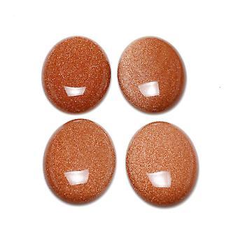 1 × غولدستون براون المسطحة الظهر 18 × 25 مم 6.5 ملم بيضوي كابوشون سميكة CA16666-6
