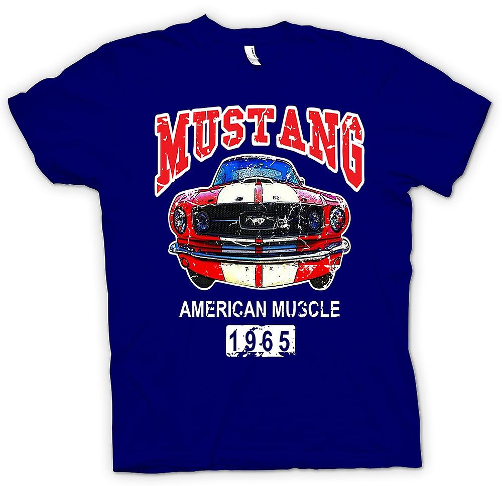 Mens T-shirt-Mustang 65 Muscle - Car - Classic U.S. Car
