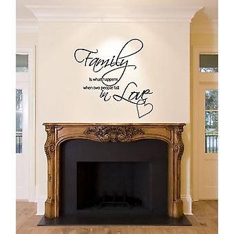 Wall Sticker Family Happens When 2 People Fall In Love Decal