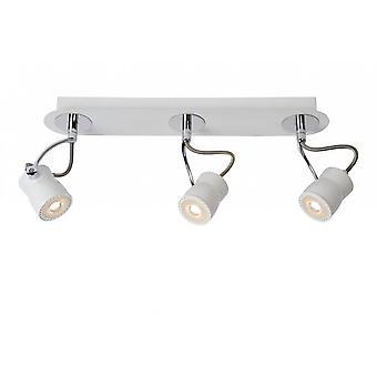 Lucide Samba Modern Oval Metal White And Chrome Ceiling Spot Light