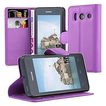 Cadorabo sag for Huawei ASCEND Y300 Case Cover-telefon tilfældet med magnetisk lukning, stativ funktion og kort sag-sag Cover sag sag sag case sag bog folde stil