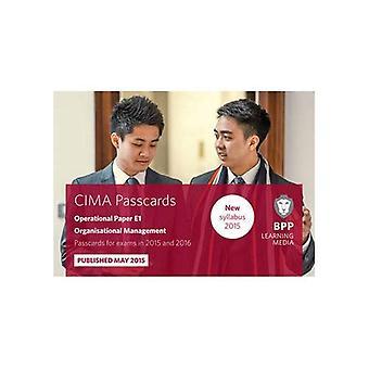 CIMA E1 Organisational Management: Passcards