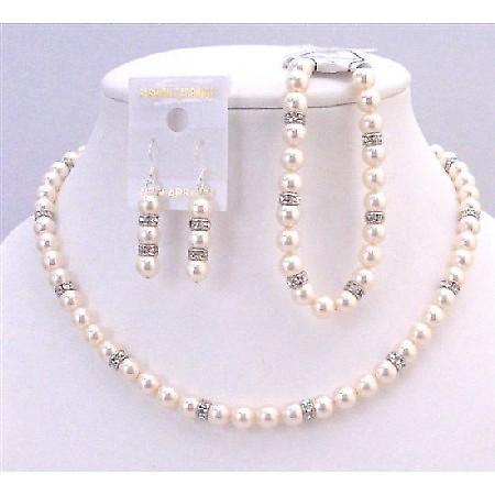 Fashion Jewelry Custom Swarovski Pearls Jewelry Ivory Pearls Bracelet