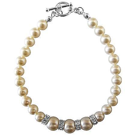 Arrival Fashion Jewelry In Swarovski Ivory Pearls Bracelet