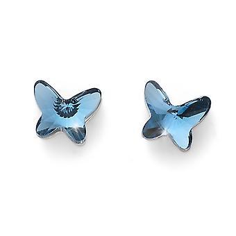 Earring Farfallina RH denim blue