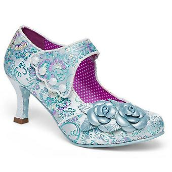 Ladies Womens Court Shoes Touch Fastening Mary Jane Mid Heel Couture