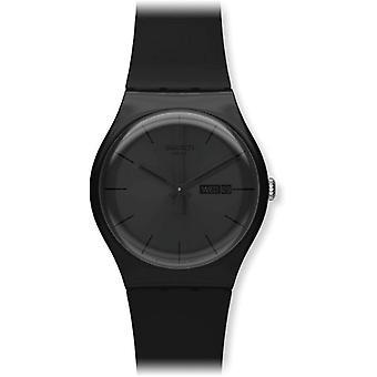 Swatch ladies analog quartz watch with plastic Strap _ SUOB702