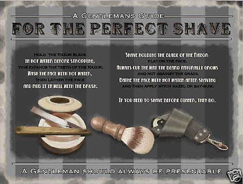 For The Perfect Shave large metal sign  (og 4030)