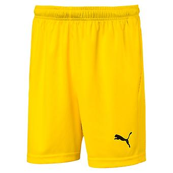 PUMA League s core Jr kids of soccer shorts Cyber yellow-black