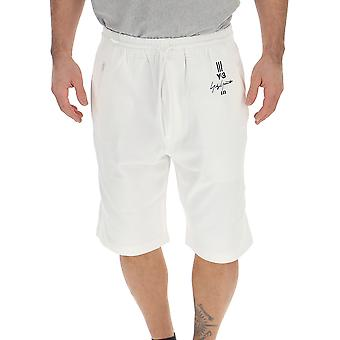 Y-3 White Cotton Shorts