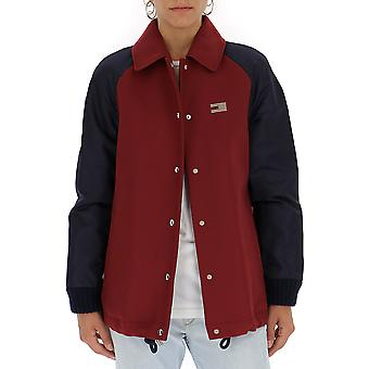 Tommy Hilfiger Red Polyester Outerwear Jacket