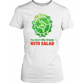 You Don�t Wind Friends With Salad - Funny Ladies T Shirt
