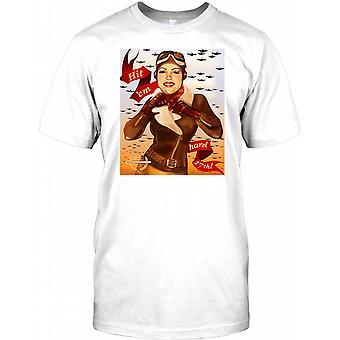 Slå Em Hard - WW2 propaganda affisch Mens T Shirt