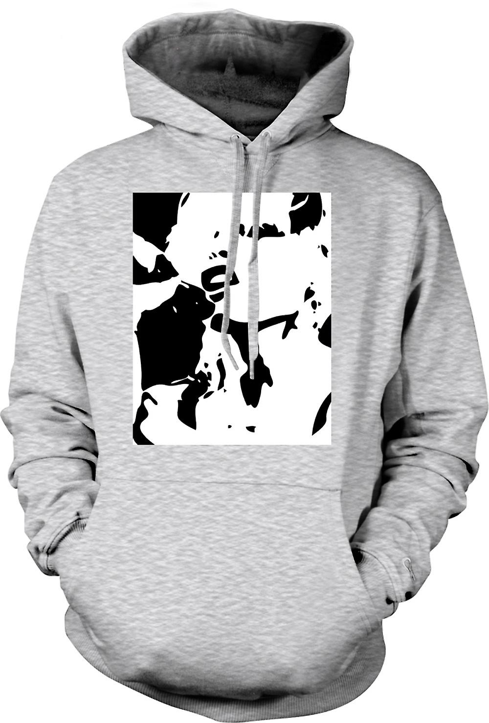 Mens Hoodie - Blondie - retro Music BW