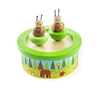 Bigjigs Toys Wooden Woodlands Music Box