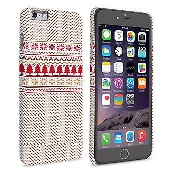 Caseflex iPhone 6 Plus and 6s Plus Christmas Knitted Snowflake Jumper Hard Case Brown Red White