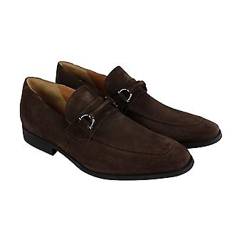 Clarks Gilman Bit  Mens Brown Suede Comfort Casual Slip On Loafers Shoes