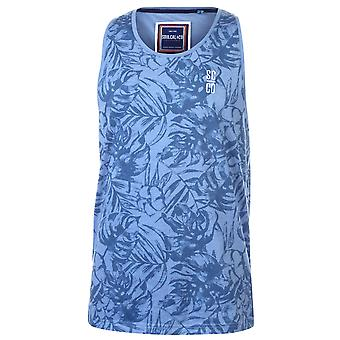 SoulCal Mens All Over Print Tank Sleeveless Top Vest T-Shirt Tshit