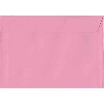 Pastel Pink Peel/Seal C5/A5 Coloured Pink Envelopes. 100gsm FSC Sustainable Paper. 162mm x 229mm. Wallet Style Envelope.