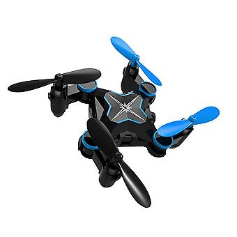 Folding four axis aerial photography mini drone aircraft toy - wifi real-time version (blue)
