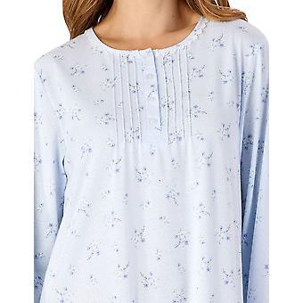 Slenderella ND4127 Frauen's Jersey Floral Spitze Nachthemd