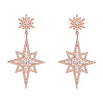 Boucles d'oreilles Northern Starburst Pink Rose Gold Statement Drop Latelita Designer