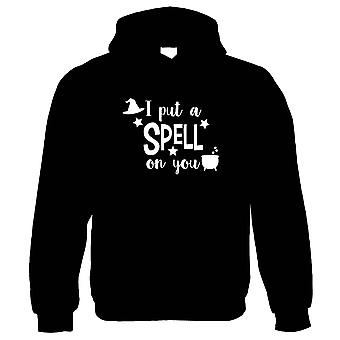 I Put A Spell On You Hoodie   Halloween Fancy Dress Costume Trick Or Treat   Hallows Eve Ghost Pumpkin Witch Trick Treat Spooky   Halloween Gift Him Her Birthday