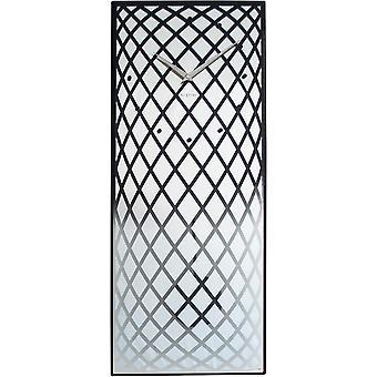 NeXtime - Wall clock – 30 x 70 cm - Glass/Mirror – Silver -'Pendula'