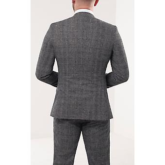 Loch Hart Mens Prince of Wales Check Tweed 3 Piece Suit