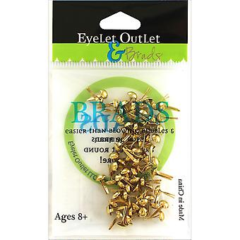Eyelet Outlet Round Brads 4mm 70/Pkg-Gold BRD4MM-610B
