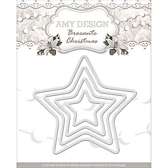 Find It Trading Amy Design Brocante Christmas Die-Mini Star Frames ADD10033