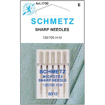 Microtex Sharp Machine Needles Size 12 80 5 Pkg 1730