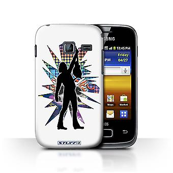 STUFF4 Case/Cover for Samsung Galaxy Y Duos/S6102/Reach White/Rock Star Pose