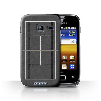 STUFF4 Case/Cover for Samsung Galaxy Y Duos/S6102/Grey Hard Court/Tennis Courts