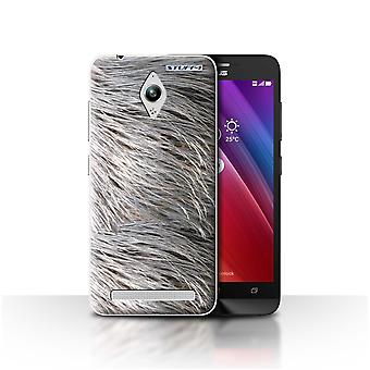 STUFF4 Case/Cover for Asus Zenfone Go ZC500TG/Feathers/Animal Fur Pattern