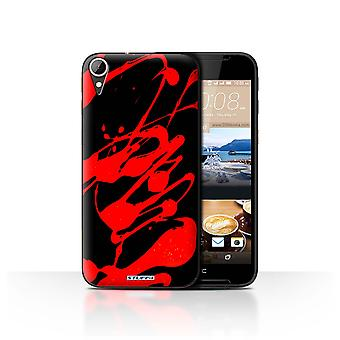 STUFF4 Case/Cover for HTC Desire 830/Red/Paint Splatter