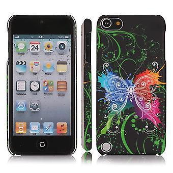 Täck med fjäril färger, plast hård-iPod Touch 5