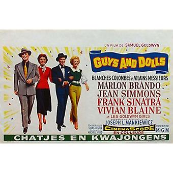 Guys and Dolls Filmplakat (17 x 11)
