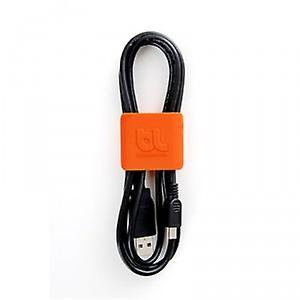 Bluelounge 4 x cable clamps Cable Clip Medium - Dark Grey Orange