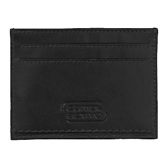 Camel active mens credit card case, card case leather pouch black 4231